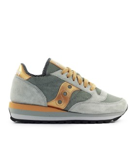 SAUCONY JAZZ TRIPLE PONYSKIN GREY GOLD SNEAKER