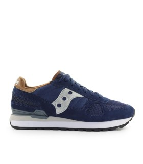 SNEAKER SHADOW BLU NAVY MARRONE SAUCONY