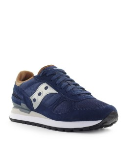 SAUCONY SHADOW NAVY BLUE BROWN SNEAKER