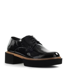 PALOMA BARCELÓ MANISA ADEMUZ BLACK PATENT LEATHER LACE-UP SHOE