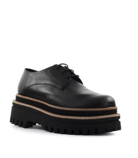PALOMA BARCELÓ KUSA BLACK PLATFORM LACE-UP SHOE