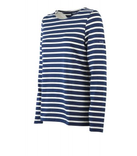 SAINT JAMES MINQUIDAME BLUE ECRU LONG SLEEVE SHIRT