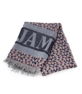 FOULARD TRIANGLE BLU RUGGINE SAINT JAMES
