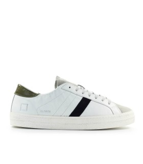 D.A.T.E. HILL LOW VINTAGE WHITE MILITARY GREEN SNEAKER