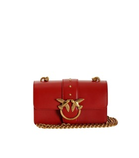 BORSA A TRACOLLA LOVE MINI ICON SIMPLY C ROSSA PINKO