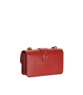 PINKO LOVE MINI ICON SIMPLY C RED CROSSBODY BAG