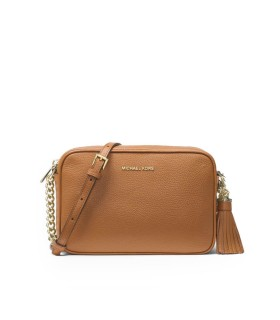 MICHAEL KORS GINNY LIGHT BROWN CROSSBODY BAG