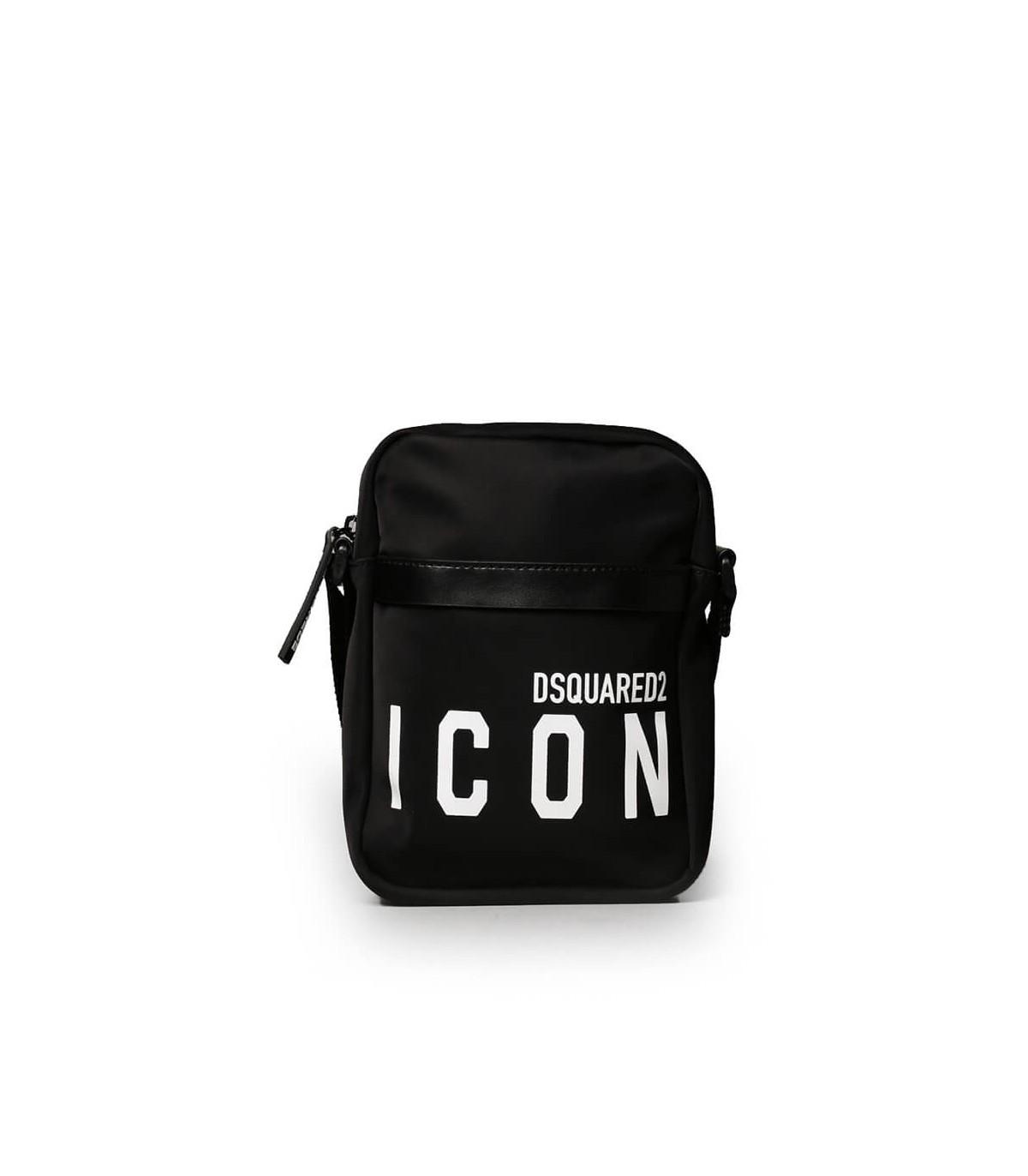 Dsquared2 Leathers ICON BLACK CROSSBODY BAG