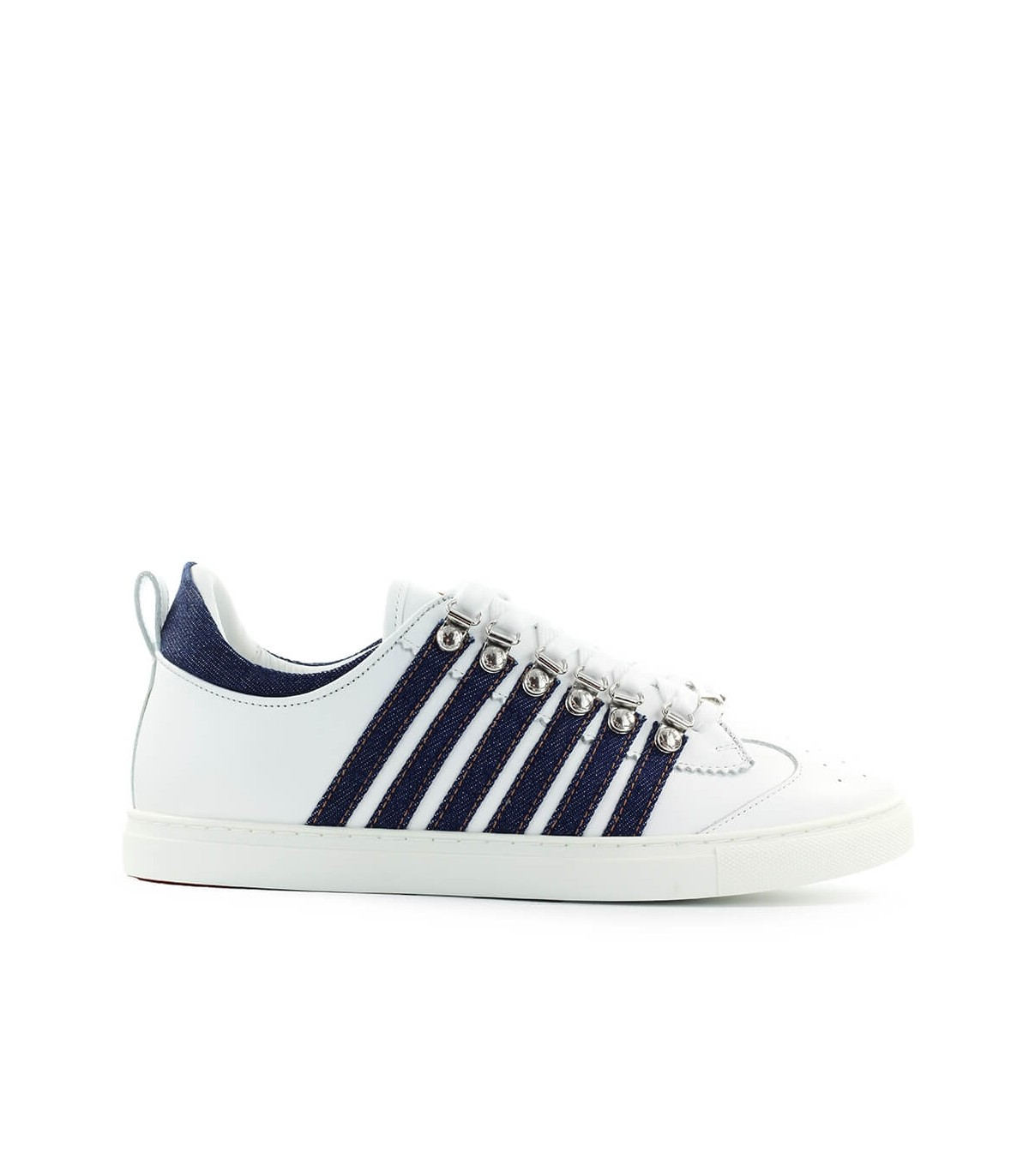 Dsquared2 Leathers LOW SOLE WHITE DENIM SNEAKER