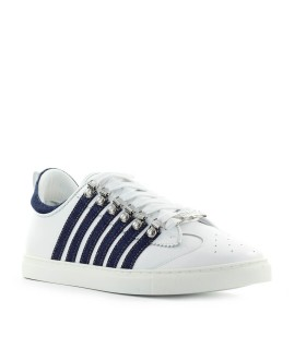 SNEAKER LOW SOLE BIANCO DENIM DSQUARED2