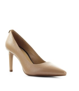 MICHAEL KORS DOROTHY BEIGE PATENT LEATHER PUMP