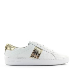 MICHAEL KORS IRVING STRIPE LACE UP WHITE SNEAKER