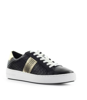 MICHAEL KORS IRVING STRIPE LACE UP BLACK SNEAKER