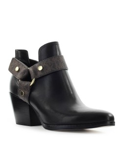 MICHAEL KORS PAMELA BLACK BROWN TEXAN BOOTIE