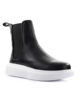 LOVE MOSCHINO BLACK LEATHER CHELSEA BOOT