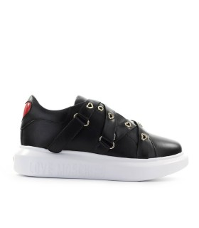 LOVE MOSCHINO BLACK STRAPS SNEAKER