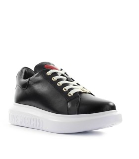 LOVE MOSCHINO HEART BLACK SNEAKER