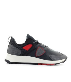 PHILIPPE MODEL ROYALE MONDIAL ANTHRACITE RED SNEAKER