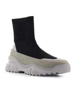 PINKO LOVE TREK BOOT BLACK SILVER SNEAKER