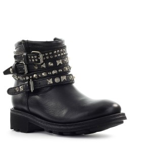 ASH TATUM BLACK NAPPA LEATHER ANKLE BOOT
