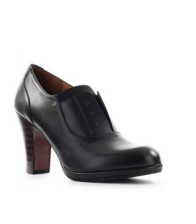 CHIE MIHARA CEMITA BLACK HEELED LOAFER