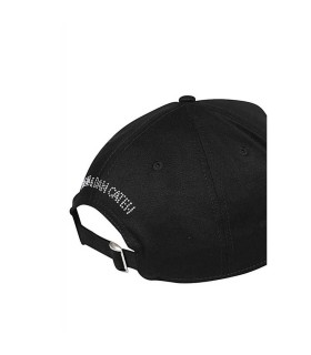 DSQUARED2 ICON BLACK RHINESTONES BASEBALL CAP