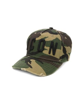 CAPPELLO DA BASEBALL ICON VERDE CAMO DSQUARED2