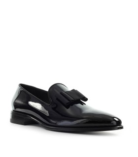 DSQUARED2 UBALDO BLACK PATENT LEATHER LOAFER