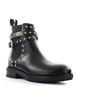 LOVE MOSCHINO BLACK STUDS CHELSEA BOOT