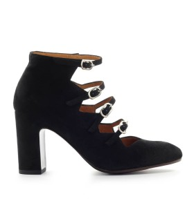CHIE MIHARA E-GREECE BLACK SUEDE PUMP
