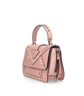 LA CARRIE CROSS GOLD STUDS PINK CROSSBODY BAG