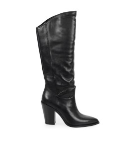 ASH BRANDON BLACK HIGH BOOT