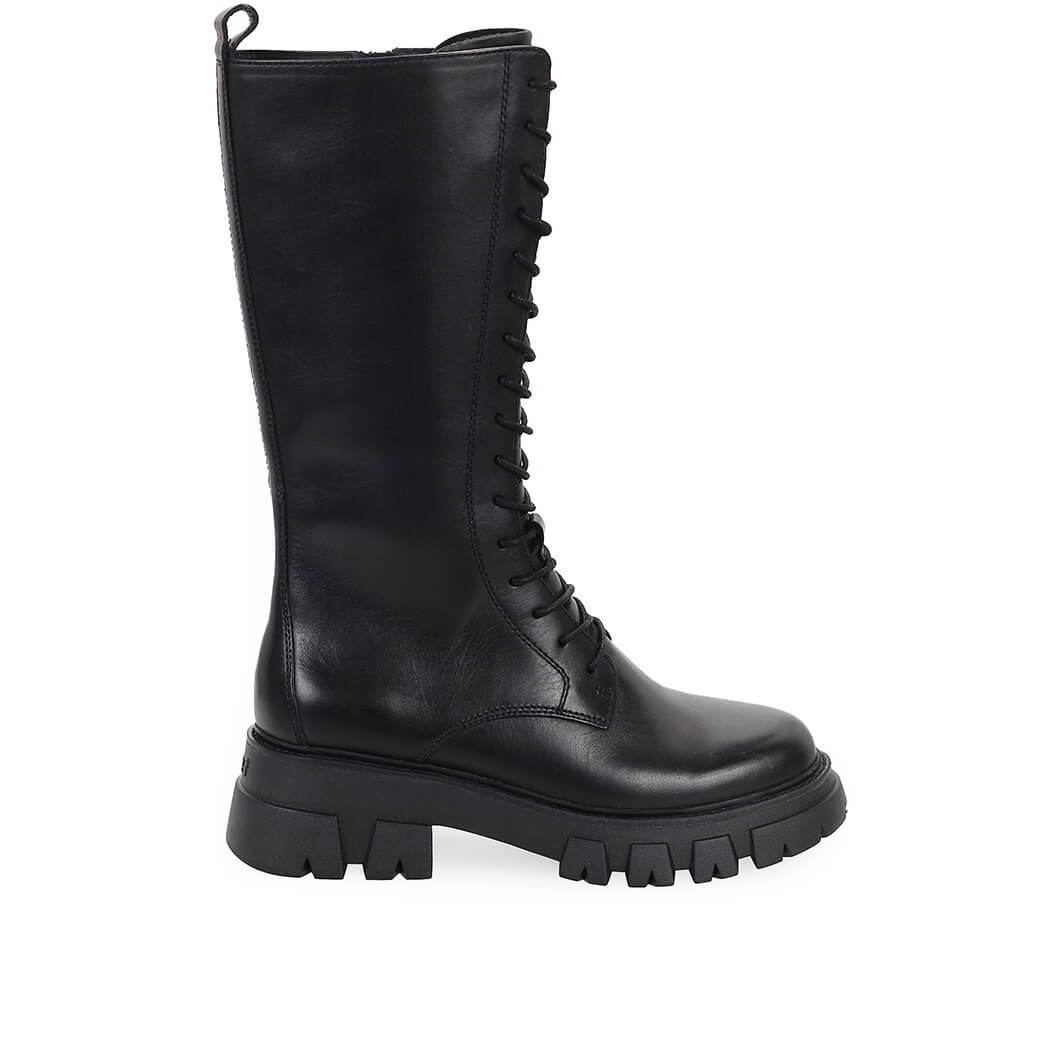 Ash Leathers LULLABY BLACK HIGH COMBAT BOOT