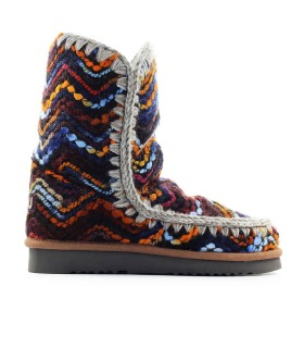 MOU ESKIMO 24 WOOL MULTICOLOR ANKLE BOOT