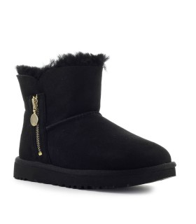 UGG BAILEY ZIP MINI ZWART LAARS