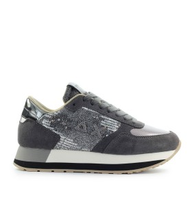 SUN68 KATE VELVET PAILLETTES DARK GREY SNEAKER