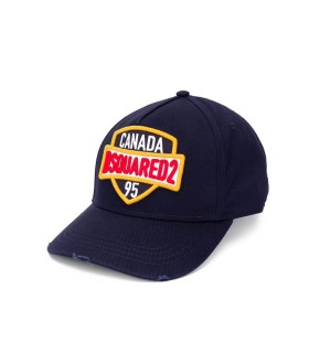 CAPPELLO DA BASEBALL PATCH BLU NAVY DSQUARED2