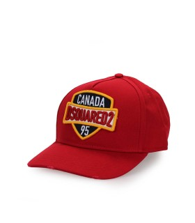 CAPPELLO DA BASEBALL PATCH ROSSO DSQUARED2