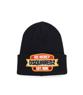 CUFFIA NERA PATCH DSQUARED2