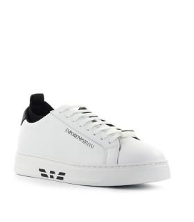 EMPORIO ARMANI WHITE BLACK SOCK SNEAKER