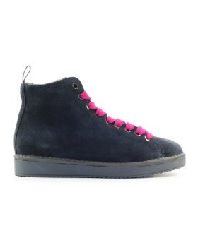 PÀNCHIC COBALT BLUE SUÈDE FUCHSIA BOOT