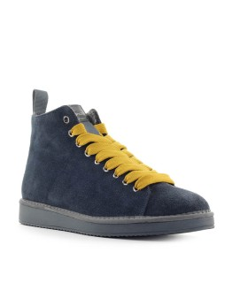 PÀNCHIC COBALT BLUE YELLOW SUÈDE BOOT