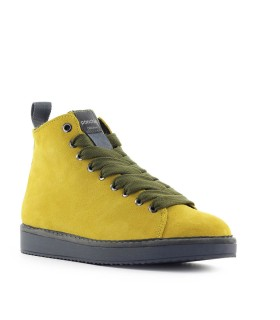 PÀNCHIC YELLOW SUÈDE OLIVE GREEN BOOT