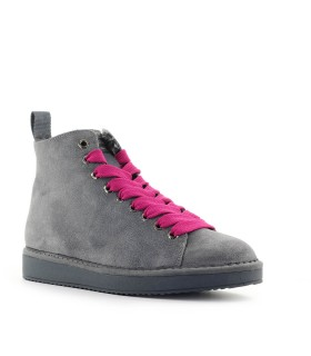 PÀNCHIC GREY SUÈDE FUCHSIA BOOT
