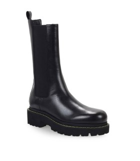PINKO NATALIE BLACK LEATHER CHELSEA BOOT