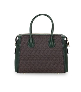 MICHAEL KORS MERCER MONOGRAM DARK GREEN HANDBAG