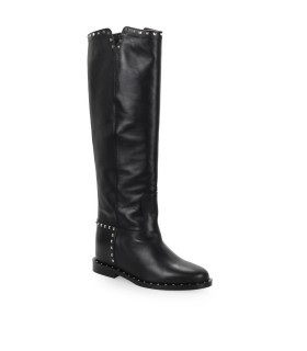 VIA ROMA 15 MALIBU BLACK STUDS HIGH BOOT