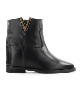 VIA ROMA 15 SAINT BARTH BLACK ANKLE BOOT
