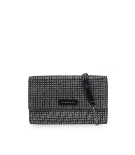 EMPORIO ARMANI BLACK SILVER WALLET WITH CHAIN