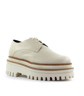 PALOMA BARCELÓ KUSA BEIGE PLATFORM LACE-UP SHOE